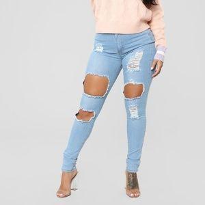 Fashion nova Jeans - Light Blue Wash size 7/8